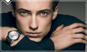 Man with a luxury watch